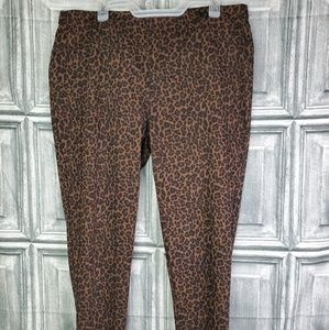 Faded Glory Leopard print jeggings sz 16/18